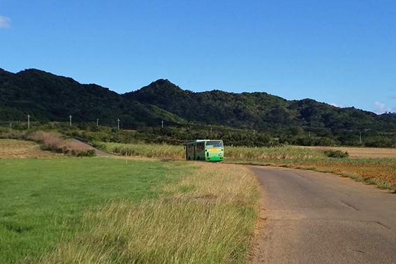 栄集落を走る路線バス